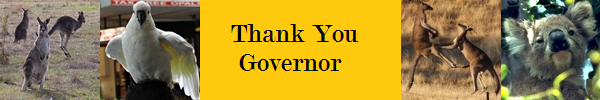 Thank you governor
